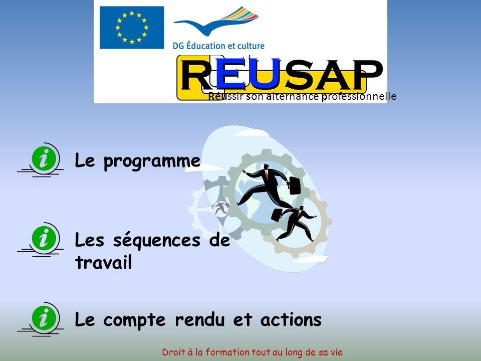 PARIS Association EGEE Du 14 au 20 Mars 2010 Droit à la formation tout au long de sa vie Réussir son alternance professionnelle