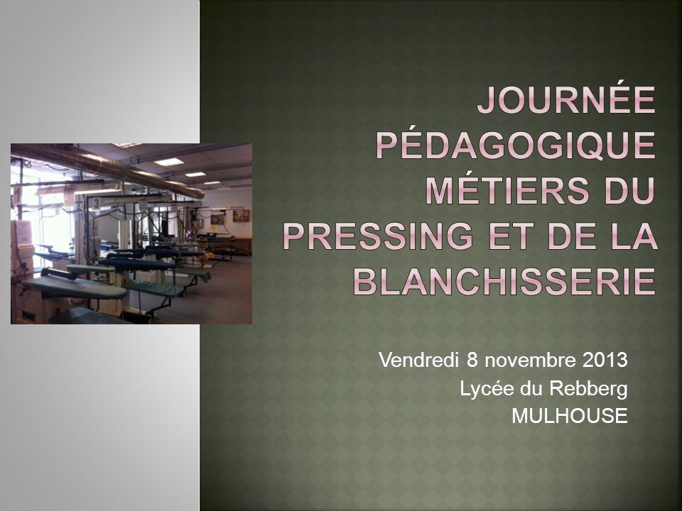 Vendredi 8 novembre 2013 Lycée du Rebberg MULHOUSE