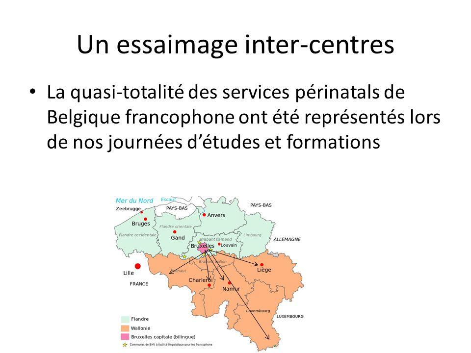 Un essaimage inter-centres La quasi-totalité des services périnatals de Belgique francophone ont été représentés lors de nos journées détudes et formations