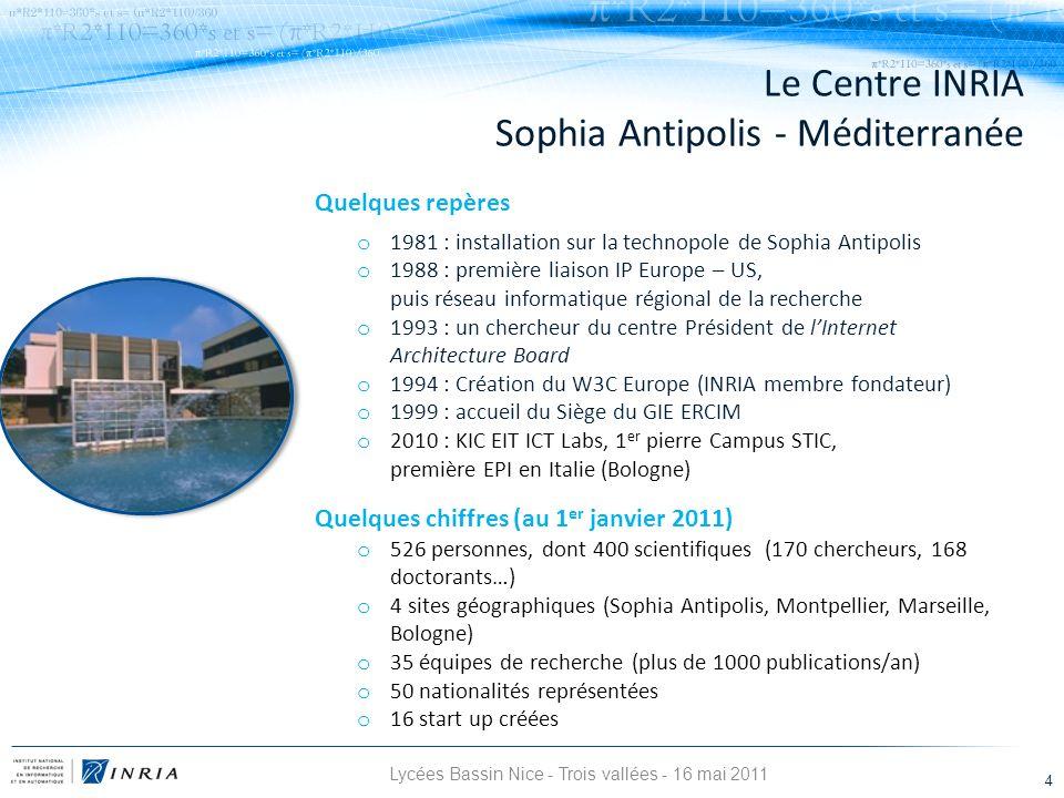Quelques repères o 1981 : installation sur la technopole de Sophia Antipolis o 1988 : première liaison IP Europe – US, puis réseau informatique région