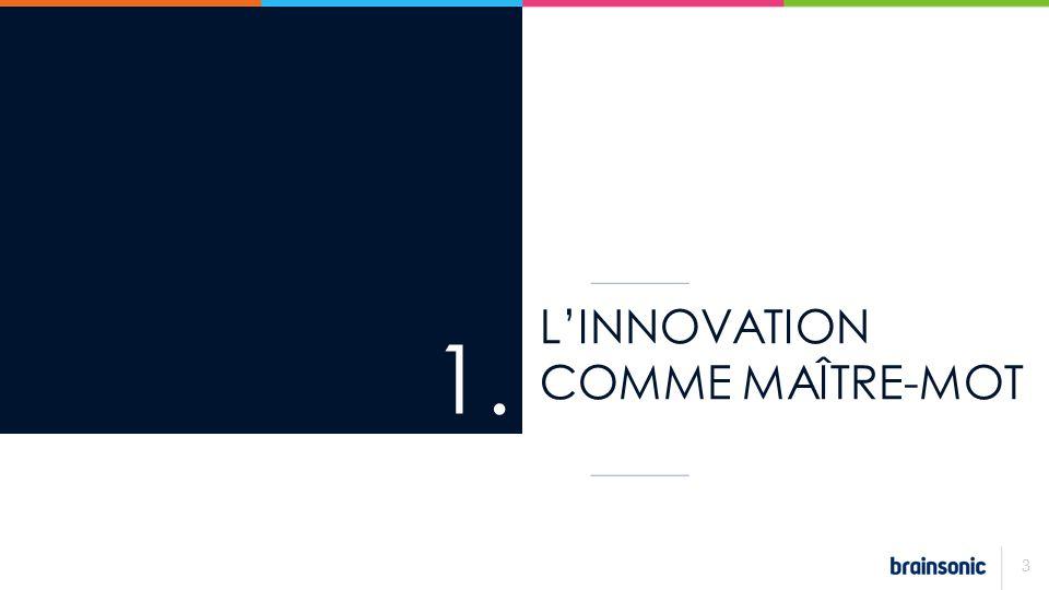 LINNOVATION COMME MAÎTRE-MOT 1. 3