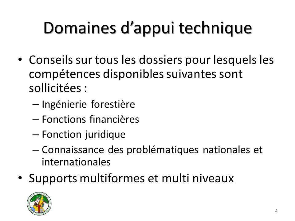 Domaines dappui technique Conseils sur tous les dossiers pour lesquels les compétences disponibles suivantes sont sollicitées : – Ingénierie forestièr