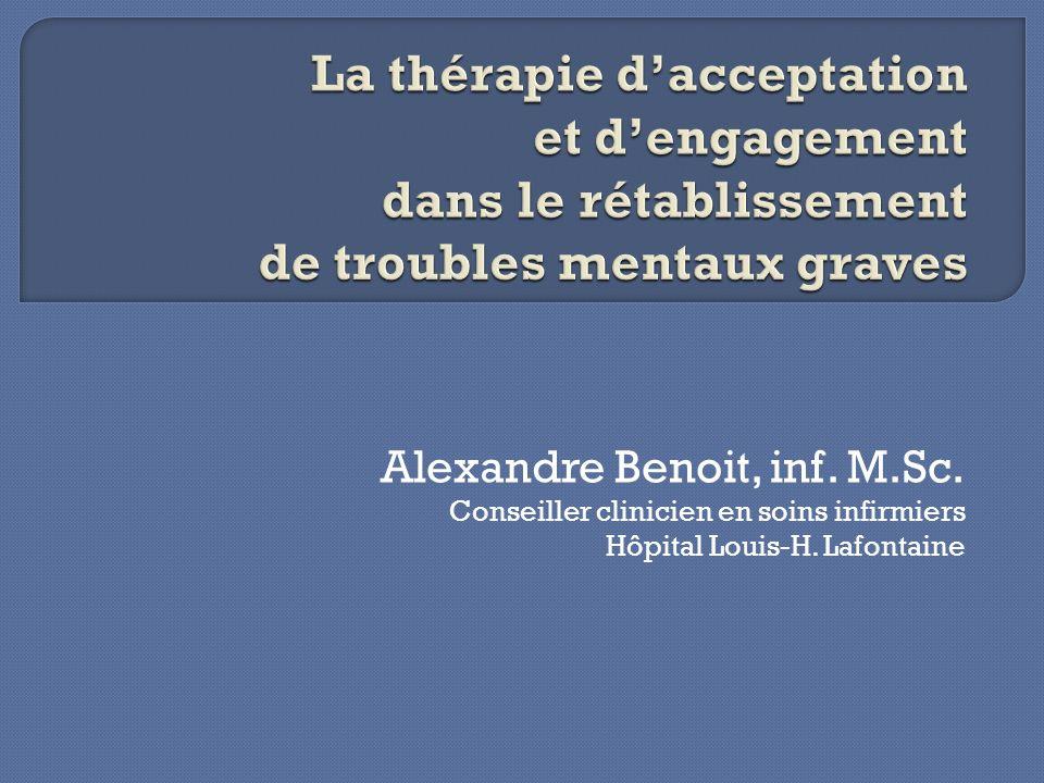 Historique des thérapies comportementales.Principes de la thérapie dacceptation et dengagement.