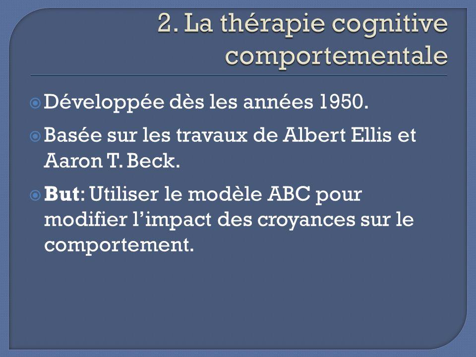 Lhistorique des thérapies comportementales; Les principes de la thérapie dacceptation et dengagement; Les résultats dune recherche sur lACT et le rétablissement de troubles mentaux graves