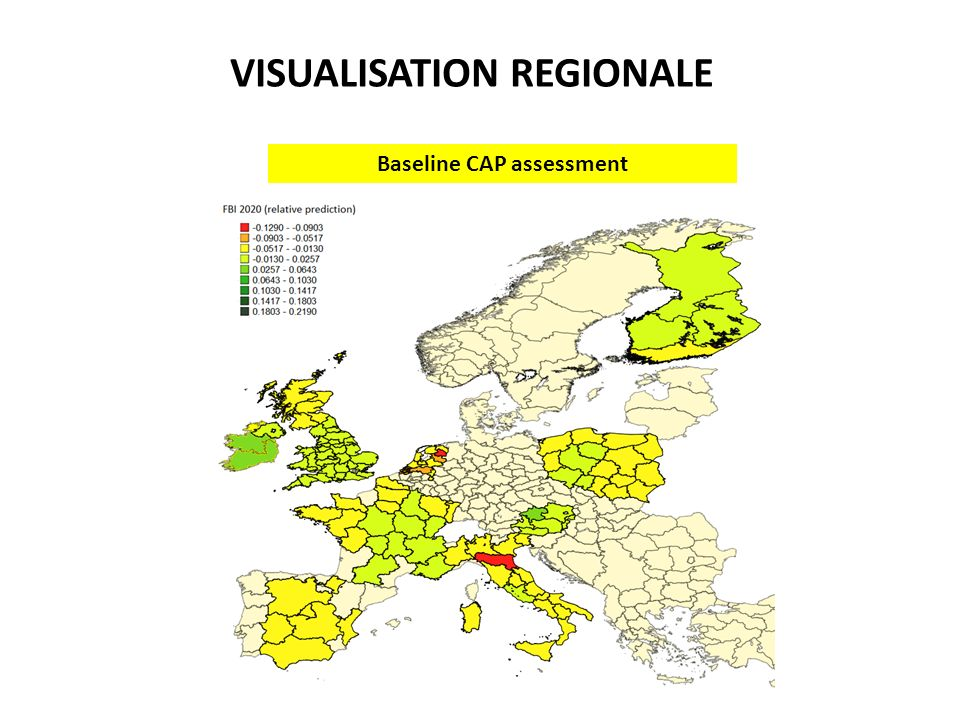 Baseline CAP assessment VISUALISATION REGIONALE