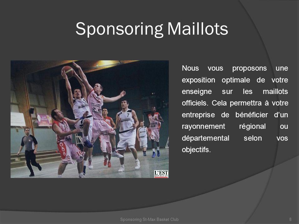 Sponsoring Maillots Nous vous proposons une exposition optimale de votre enseigne sur les maillots officiels. Cela permettra à votre entreprise de bén