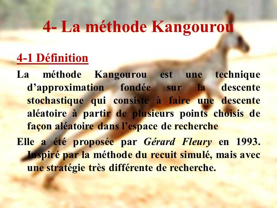 4- La méthode Kangourou 4-1 Définition La méthode Kangourou est une technique dapproximation fondée sur la descente stochastique qui consiste à faire