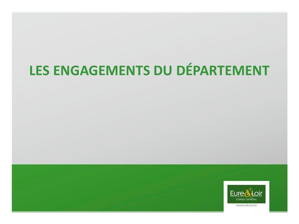 LES ENGAGEMENTS DU DÉPARTEMENT