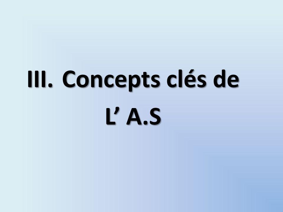III.Concepts clés de L A.S