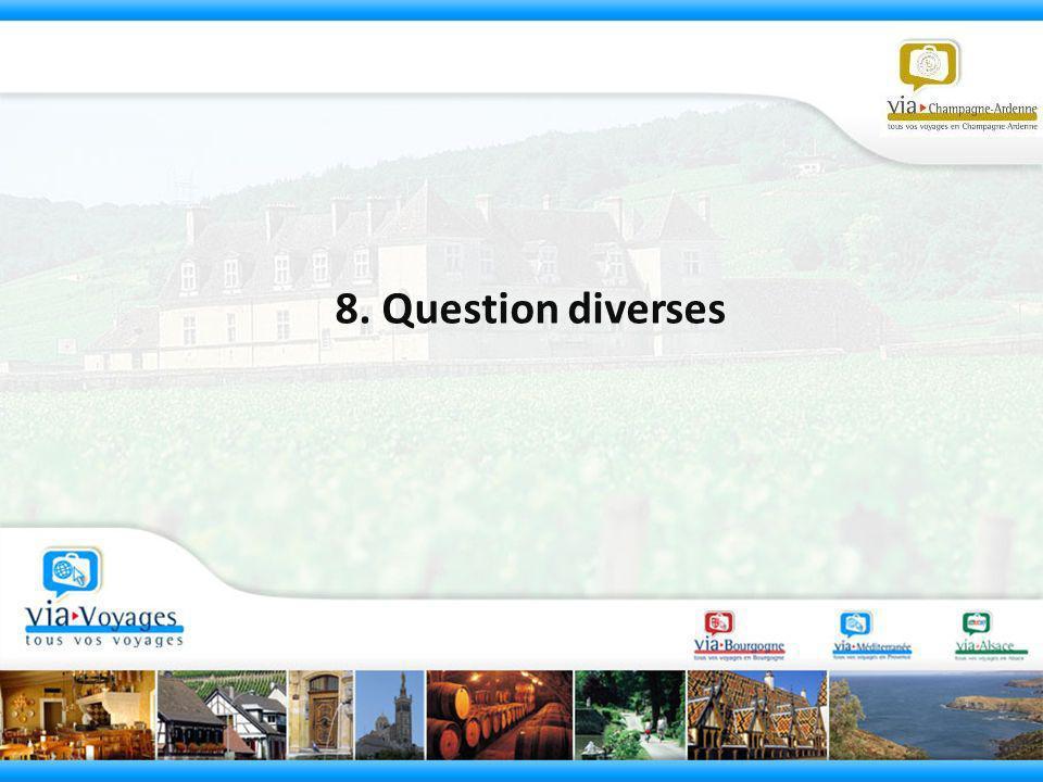 8. Question diverses