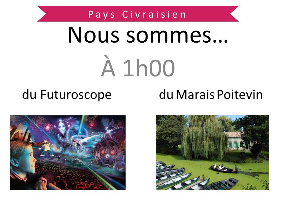 À 1h00 du Futuroscope Nous sommes… du Marais Poitevin Pays Civraisien