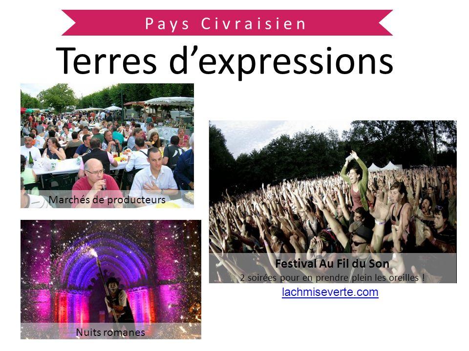 Pays Civraisien Terres dexpressions Festival Au Fil du Son 2 soirées pour en prendre plein les oreilles ! Nuits romanes Marchés de producteurs lachmis