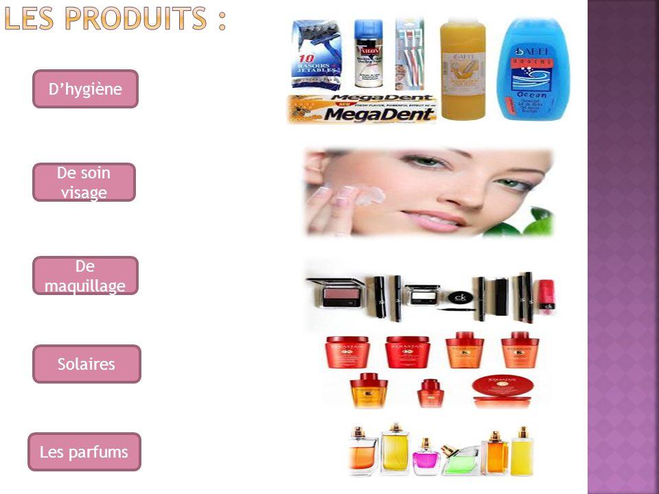 Dhygiène De soin visage De maquillage Solaires Les parfums