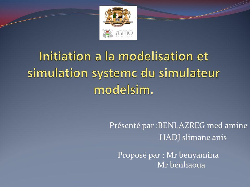 1-système embarqué 2-SoC et MPSoC 3-NoC 4-installation et compréhension du fonctionnement du simulateur modelsim (en cour de travail)