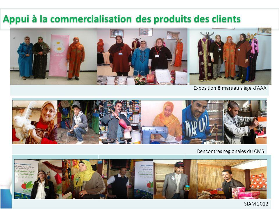 3 Exposition 8 mars au siège dAAA Rencontres régionales du CMS SIAM 2012 Appui à la commercialisation des produits des clients
