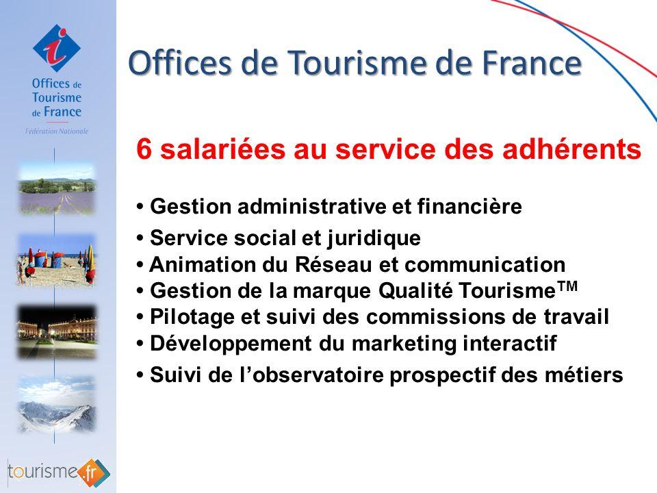 6 salariées au service des adhérents Gestion administrative et financière Service social et juridique Animation du Réseau et communication Gestion de