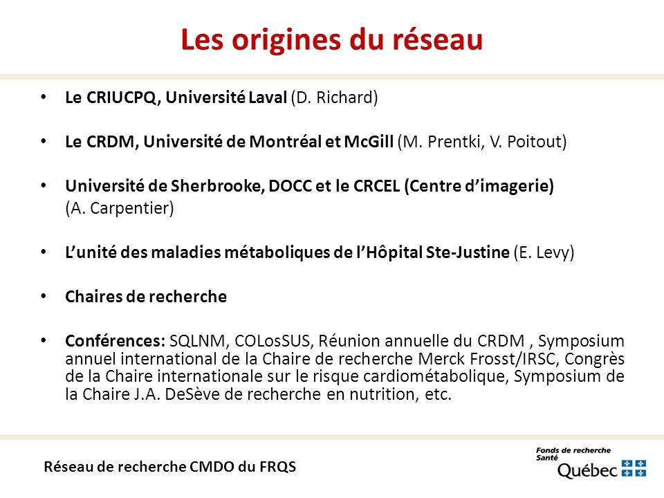 Le CRIUCPQ, Université Laval (D. Richard) Le CRDM, Université de Montréal et McGill (M.