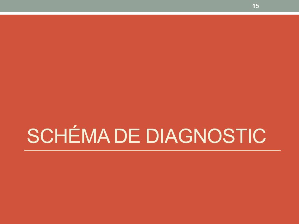 SCHÉMA DE DIAGNOSTIC 15