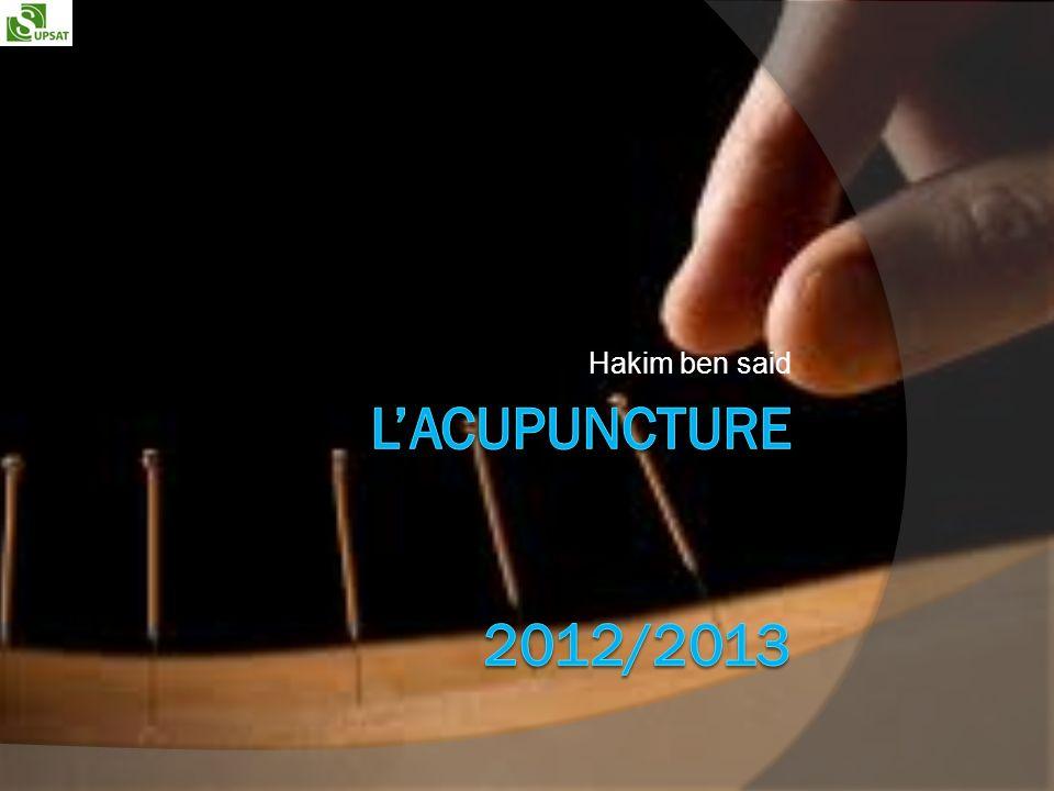 Plan Introduction Formations et références Matériels Indications et contre indications Points dacupuncture Les risques de lacupuncture conclusion