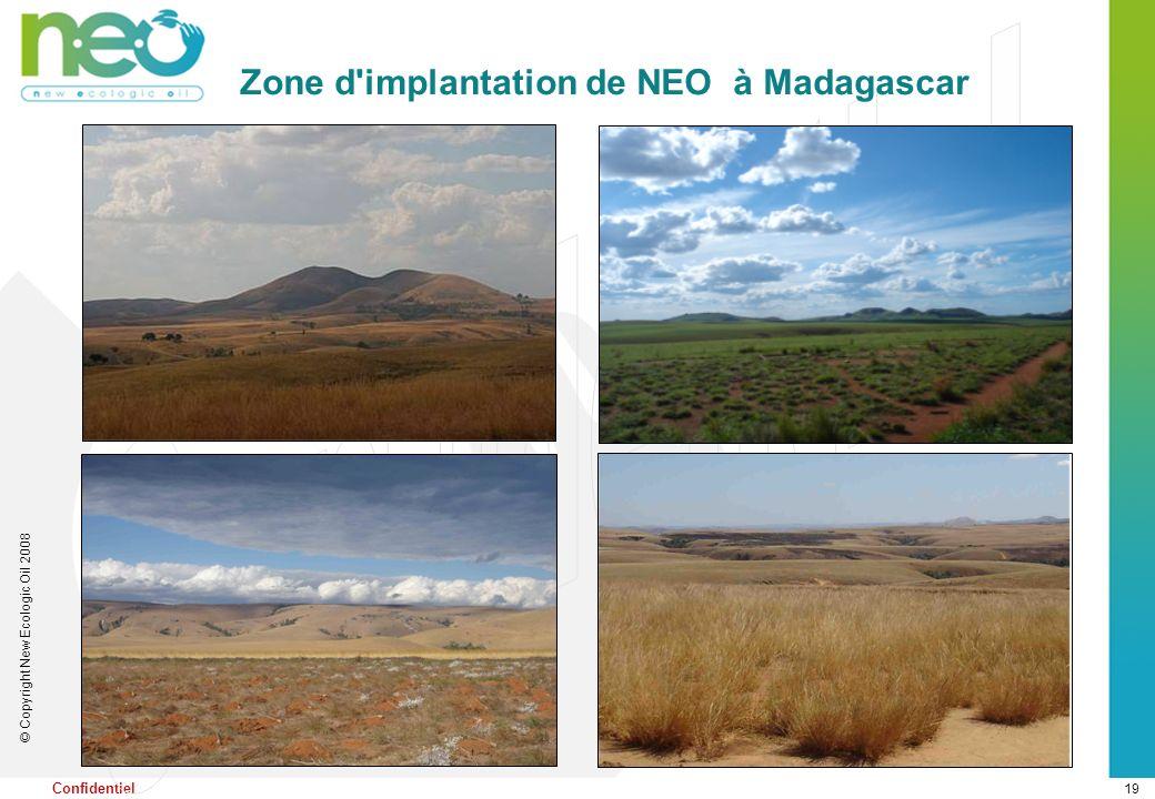 19 © Copyright New Ecologic Oil 2008 Confidentiel Zone d'implantation de NEO à Madagascar
