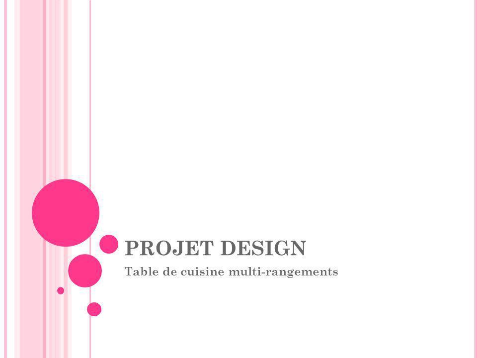 PROJET DESIGN Table de cuisine multi-rangements