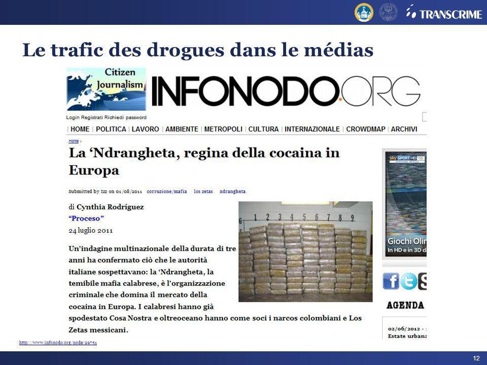 12 Le trafic des drogues dans le médias http://www.infonodo.org/node/29751