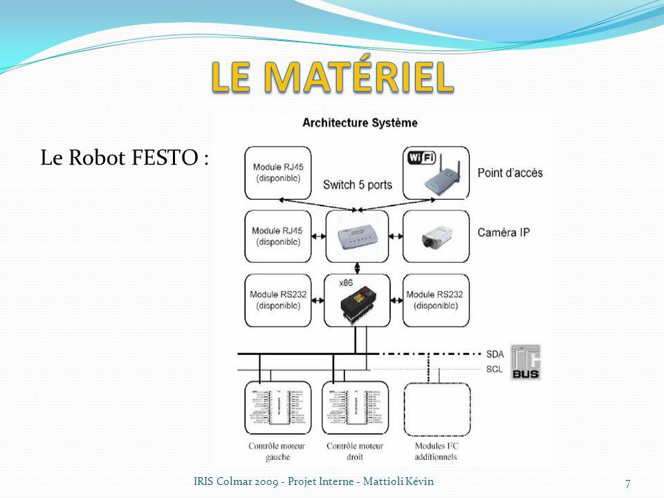 Le Robot FESTO : IRIS Colmar 2009 - Projet Interne - Mattioli Kévin7