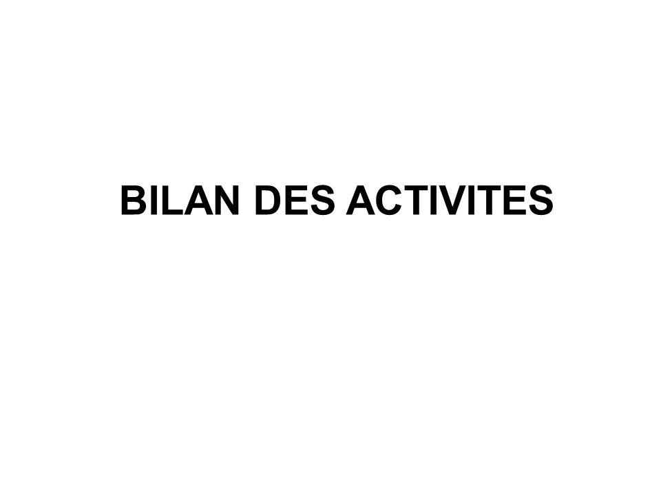 BILAN DES ACTIVITES
