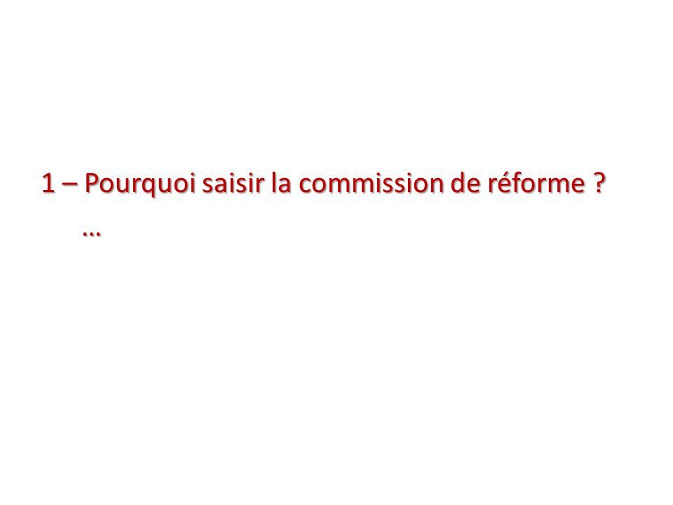 2 – Quand saisir la commission de réforme.