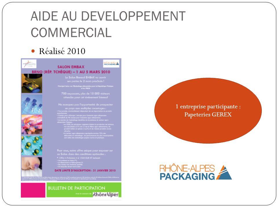 Réalisé 2010 1 entreprise participante : Papeteries GEREX