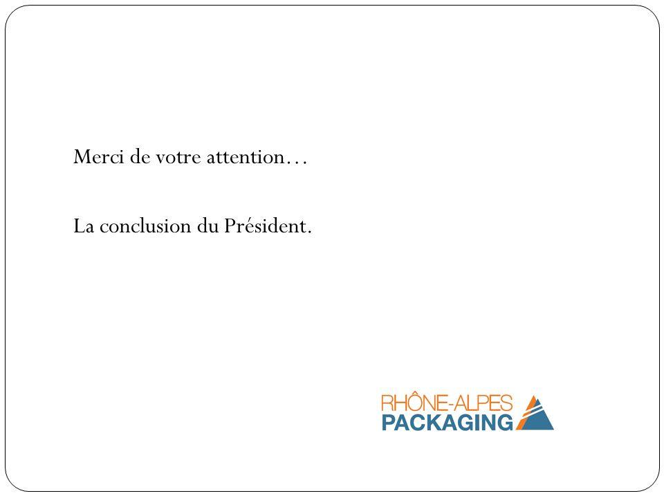 Merci de votre attention… La conclusion du Président.