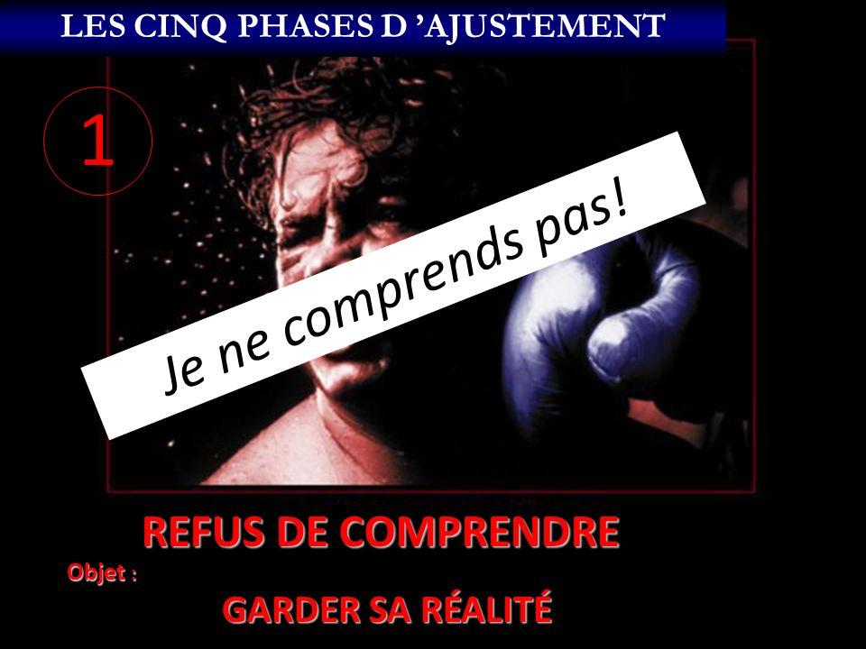 RÉSISTANCE Objet : CHANGER LE CHANGEMENT ANNONCÉ LES CINQ PHASES D AJUSTEMENT 2 4 FORMES PRINCIPALES DE RÉSISTANCE