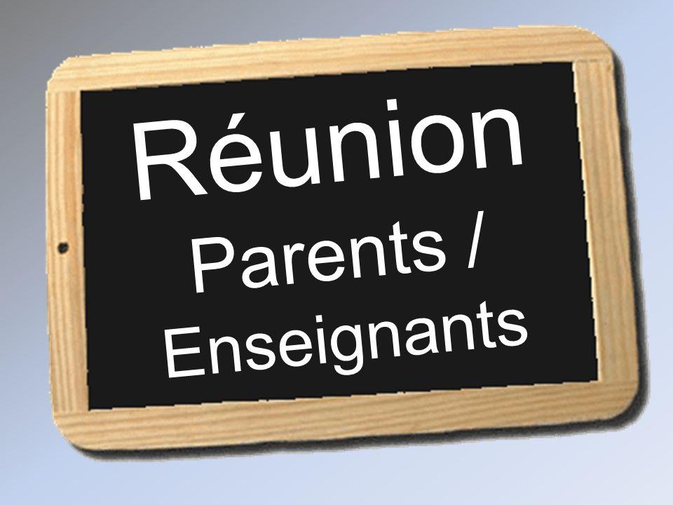 Réunion Parents / Enseignants