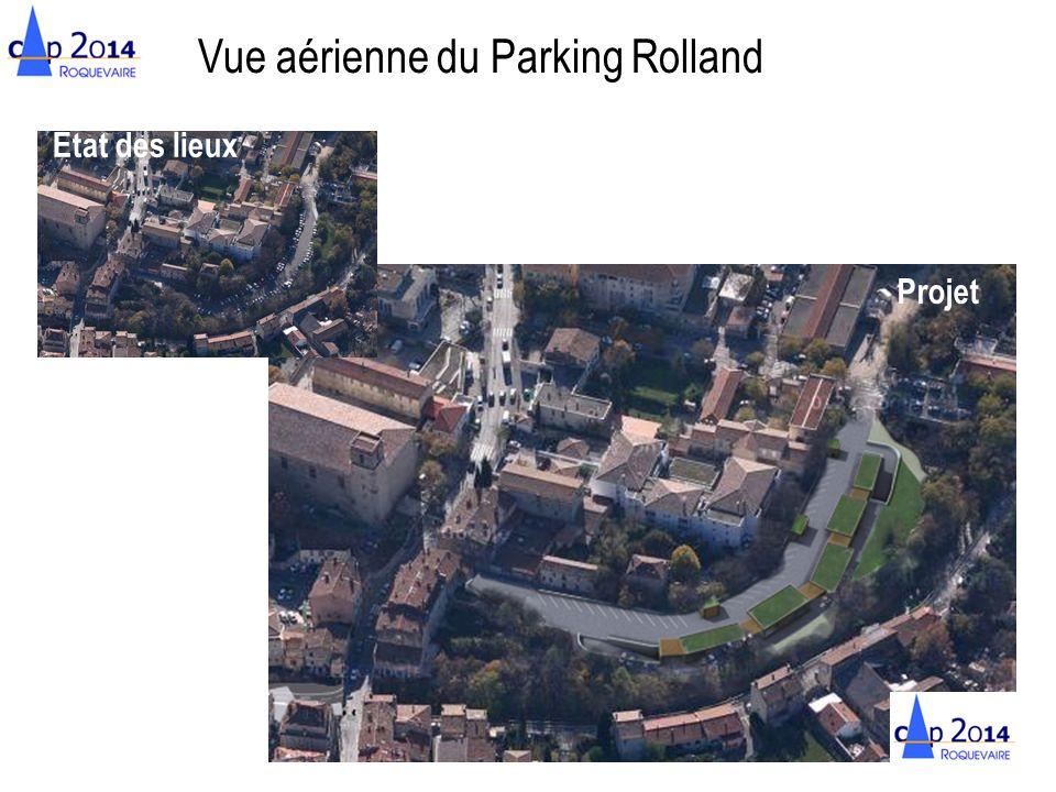 Vue aérienne du Parking Rolland État des lieux Projet
