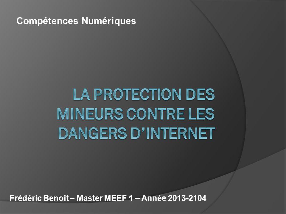 Frédéric Benoit – Master MEEF 1 – Année 2013-2104 Compétences Numériques