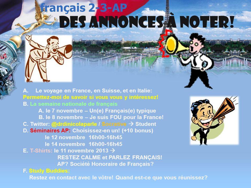 français 5H/AP ® le 12 novembre 2013 ActivitésClasseur CHANTONS !: Stromae « Papaoutai » / Julien Doré « Paris-Seychelles » Énigme 8 Le voyage au monde francophone retourne .