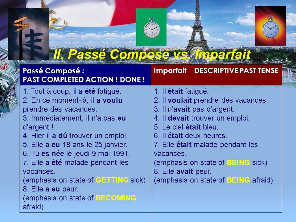 français 5H/6AP Le passé composé -- Un autre jeu.