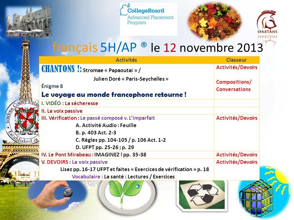 La sécheresse français 5H / 6AP www.yabla.com I.Répondez avec votre partenaire! 1.Quelle règle est-ce que le gouvernement dIsère a établie à cause de