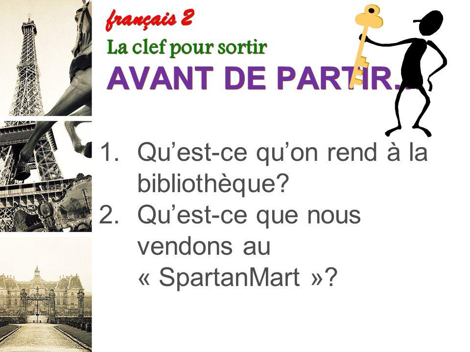 Les verbes en –re Feuille dexercices French One Years (NEW) français 2 G. 1.La femme ne perd pas souvent ses clefs. 2.Vous nattendez pas le train de P