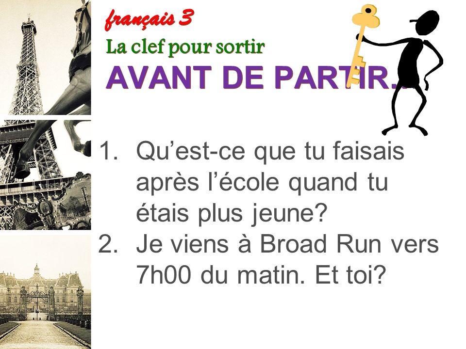 French 2 Years (NEW) – Amsco – pp. 103-106 Exercices E-F-G-H G. Exprimez ce que ces personnes étaient en train de faire à deux heures hier après-midi.