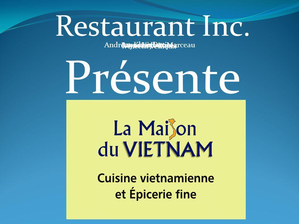 Restaurant Inc. Andréanne Leclerc MarceauJonas Niyonzima Khoa Dao Raymundo Lopez Vincent Veilleux Présente