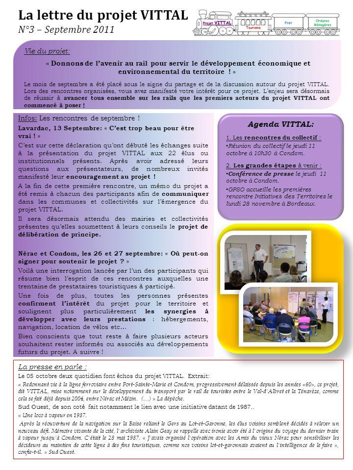La presse en parle : Le 05 octobre deux quotidien font échos du projet VITTAL.