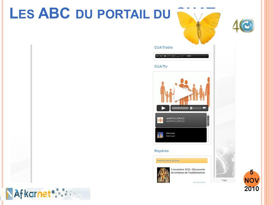 L ES ABC DU PORTAIL DU CUAT 5 NOV 2010