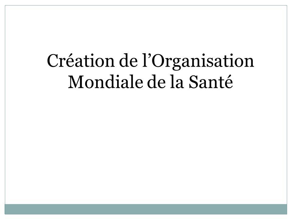 Création de lOrganisation Mondiale de la Santé