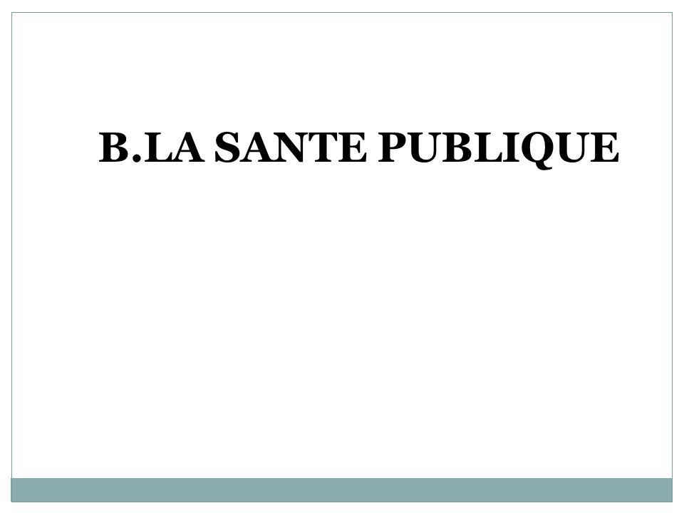 B.LA SANTE PUBLIQUE