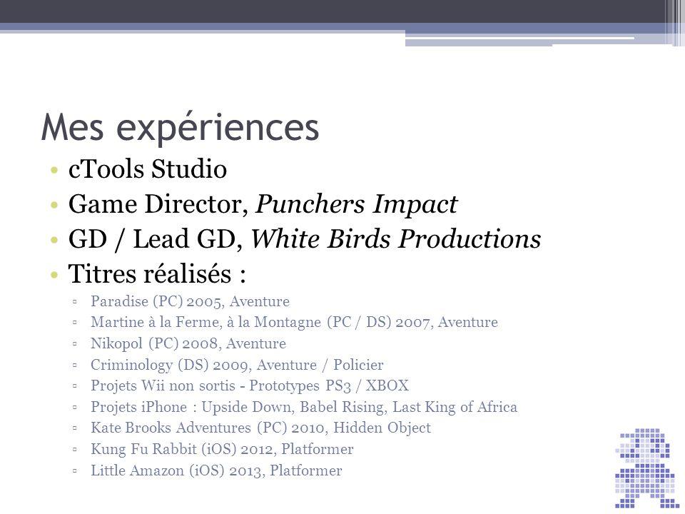 Votre projet professionnel Chef de projet jeux vidéos Game designer Autre… ? Votre projet de jeu ?