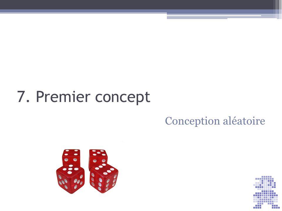7. Premier concept Conception aléatoire