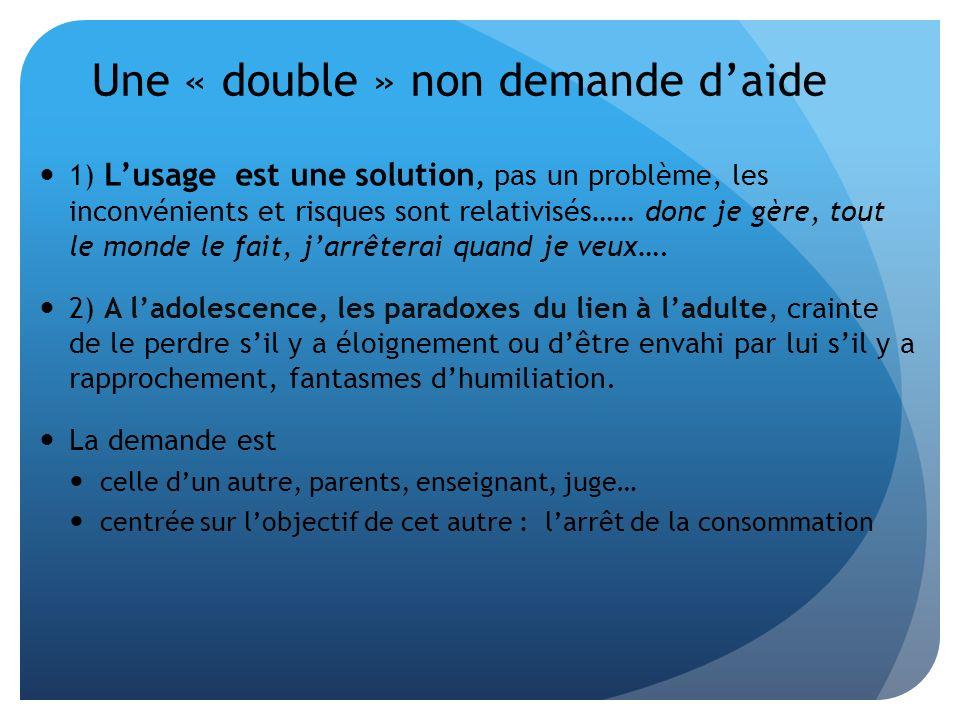 Une « double » non demande daide 1) Lusage est une solution, pas un problème, les inconvénients et risques sont relativisés…… donc je gère, tout le mo