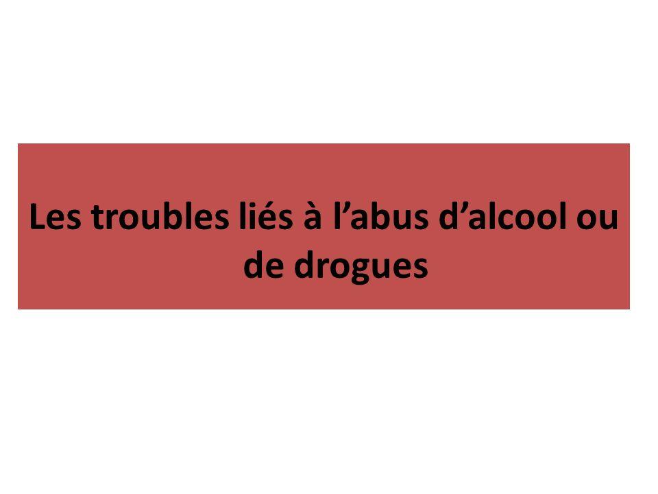 Les troubles liés à labus dalcool ou de drogues