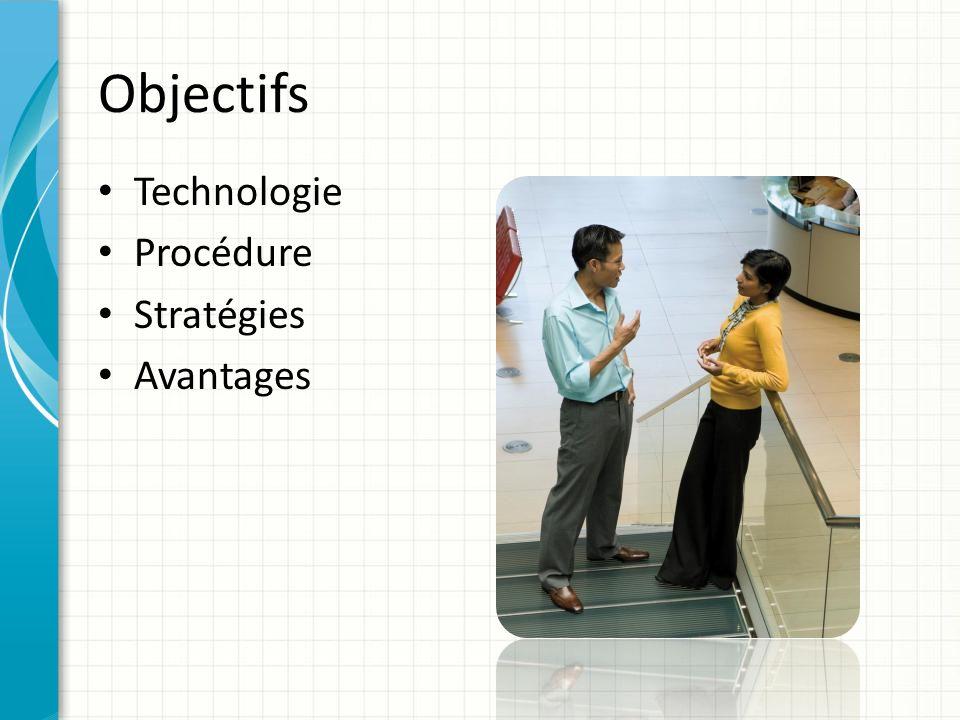 Objectifs Technologie Procédure Stratégies Avantages